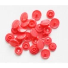 Drukknopen, 12,4 mm, roze, 20 stuks
