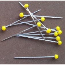 Quiltspelden, Glaskopspelden 43mm x 0.65mm (20 gram)