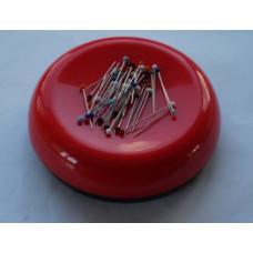 Speldenkussen magneet rond duo-kleur rood/zwart