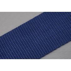 Tassenband 40mm donkerblauw, nylon, per meter