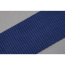 Tassenband - Nylonband, 40mm, blauw (donker blauw), per meter