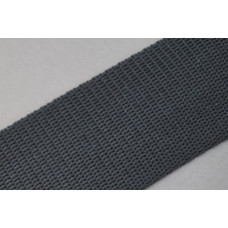 Tassenband 40mm zwart, nylon, per meter