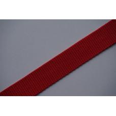 Tassenband 25mm rood, nylon