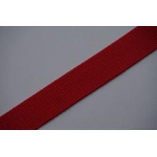 Tassenband 30mm rood, nylon