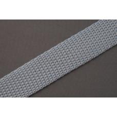 Tassenband - Nylonband, 20mm, grijs, per meter