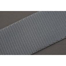 Tassenband 40mm grijs, nylon, per meter