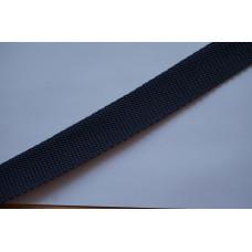 Tassenband - Polypropyleen, 25mm, donker blauw, per meter
