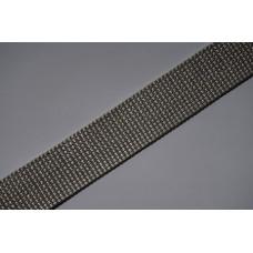 Tassenband - polypropyleen, 25mm, grijs, per meter