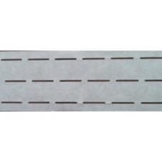 Vlieseline tailleband Plak en vouw om 2.5 cm wit (per meter)