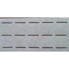 Vlieseline tailleband Plak en vouw om 3.0 cm wit (per meter)