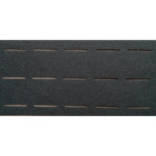 Vlieseline tailleband Plak en vouw om 3.0 cm zwart (per meter)